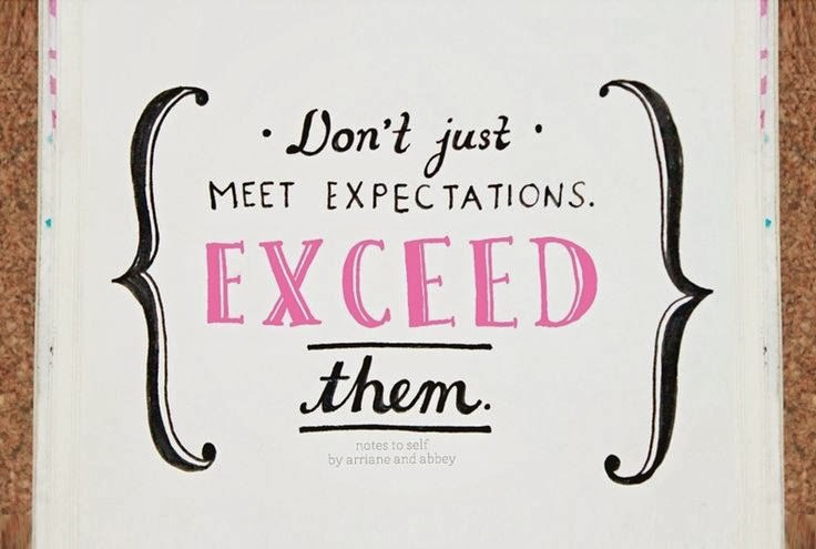 exceed expectation